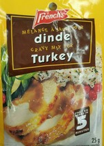 12X Pack French's Turkey Gravy Mix 25g Each - From Canada -  FRESH & Delicious! - $32.74