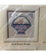 "Flower Basket  Needlepoint Kit Creative Circle #0146 5"" x 5""  - $9.74"