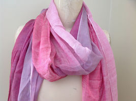 Pink Watercolor Fashion Scarf 68 inches long 24 inches wide image 3
