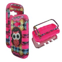 Hybrid Pinkstrip Design Owl For Samsung Galaxy Ring Prevail 2 M840 Box 3... - $9.89