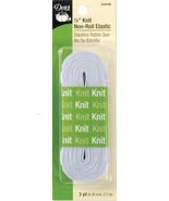 "Dritz Non-Roll Knit Elastic 1/4""X3yd-White - $5.96"