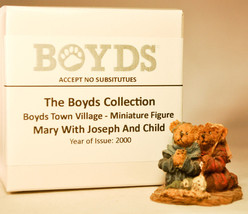 Boyds Town Village - Mary With Joseph and Child - Miniature Figure - $10.22