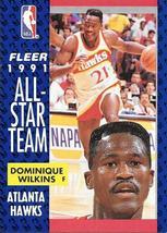 Dominique Wilkins ~ 1991-92 Fleer #212 ~ Hawks - $0.05