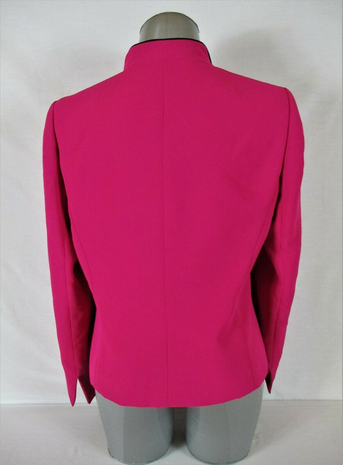 JONES STUDIO womens Sz 10 L/S hot pink FULLY LINED button down jacket (B4)