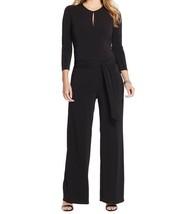 Ralph Lauren Stunning Plus Size Black Keyhole Jumpsuit Career Dinner $16... - $71.49
