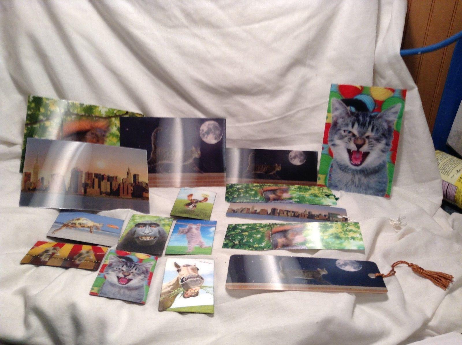 NEW Trenz Holographic Item Set of Magnets, Bookmarks & Postcards