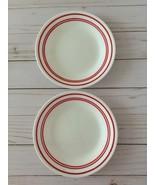 "Set of 2 Corelle Classic Cafe Red Bread Butter Dessert Plate 6 3/4"" Vitr... - $14.95"