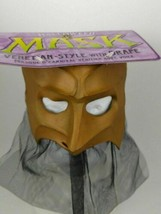 NEW Venitian Style Latex Halloween Mask With Drape 1997 VTG Paper Magic ... - $13.08