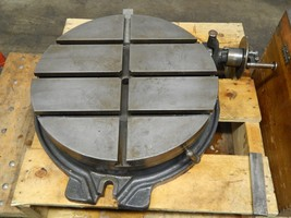 "BROWN & SHARPE 18"" ROTARY TABLE with DIVIDING ATTACHMENT - $2,375.99"