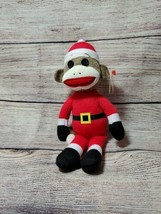 "Ty Beanie Baby Babies SANTA Sock Monkey 8.5""  Retired  - $15.81"