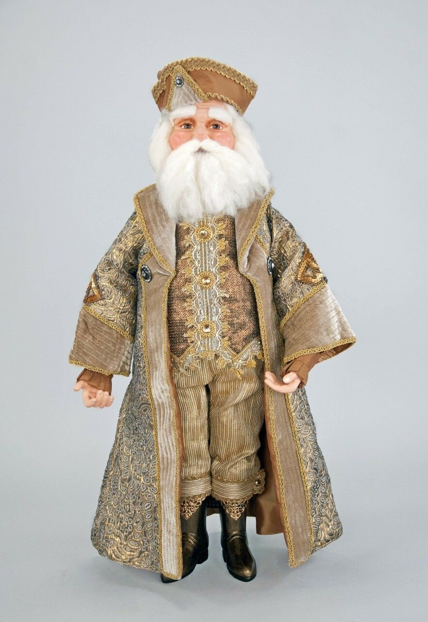 Primary image for katherine's collection Celebrations Santa Claus doll Gilded Seasons 24""