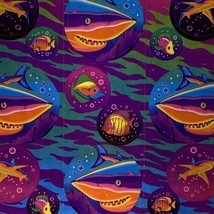 VTG Lisa Frank COMPLETE Neon Great White Sticker Sheet S218 MINTY image 2