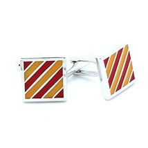 CUFFLINKS Bands Red & Yellow - $37.53