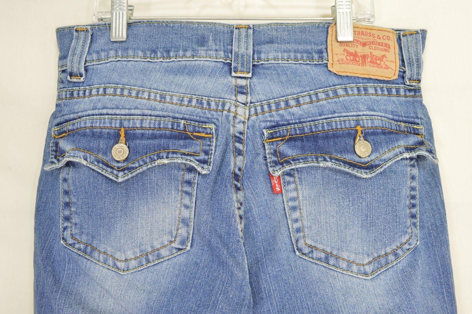 Levi 542 jeans slouch 10 x 31 flare twisted leg flap back pockets boho hippie image 4