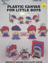 Needlecraft Ala Mode PLASTIC CANVAS FOR LITTLE BOYS Leaflet 119 Pattern ... - $4.99