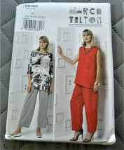 Pattern Vogue Designer Tunic & Pants March Tilton V9193 Uncut Factory Fo... - $14.35