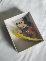 Vintage Disney Kurt Adler Mickey Mouse Rocking Horse Ornament Original Box - $10.84
