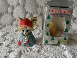 L'il Chimer Hand Painted Bisque Porcelain Mouse Bell - $8.72