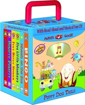 Puppy Dog Tails 6-book Travel Pack, Mother Goose Nursery Rhymes & CD NEW - $14.95