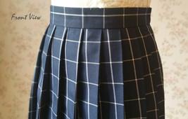 NAVY Blue PLAID Skirt Pleated Plaid Skirt School Mini Plaid Skirt US0-US16 image 6