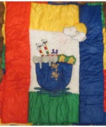 Noah's Ark Crib Quilt by Glenna Jean Hand Crafted Bright Primary Colors - $44.54