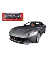 Ferrari F12 Berlinetta Grey 1/18 Diecast Car Model by Hotwheels BCJ74 - $71.62