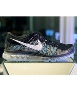 NIKE FLYKNIT AIR MAX BLACK/MULT-COLOR SIZE 12.5 NEW FAST SHIPPING (62046... - $116.62