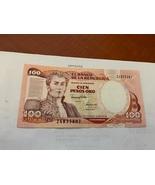 Colombia 100 pesos uncirc. banknote 1991 - $4.95