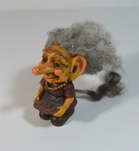 ADORABLE Vintage Troll w/ Real Hair & Tail! Original NORD Suvenir Verdal... - $48.51