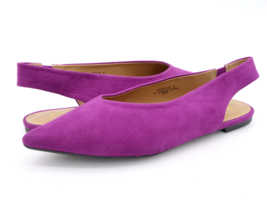 Bamboo Womens 8 Justify Purple Solid Slip On Pointed Toe Slingback Sandal EUR 38 - $19.99