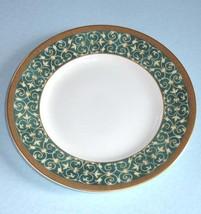 """Wedgwood Everleigh Bread/Butter Plate Green Band Gold Scrolls 6"""" New - $16.90"""