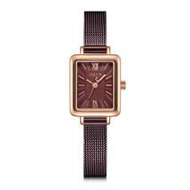 Julius Brand Vintage Square Ladies Wristwatch Simple Waterproof Watches ... - $64.87