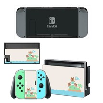 Nintendo Switch Console Dock Vinyl Skin Stickers Decals Animal Crossing Edition - $9.50
