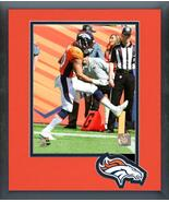 Phillip Lindsay First NFL Touchdown 9/9/18 -11x14 Team Logo Matted/Frame... - $42.95