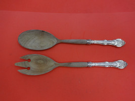 Cavendish by Birks Sterling Silver Salad Serving Set w/Wood 2pc