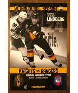 Vegas Golden Knights NY Rangers Forward Oscar Lindberg Inaugural Season ... - $7.91