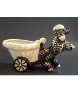 Black White Bubble Poodle Planter Shafford Japan Rearing Porcelain Vinta... - $24.70