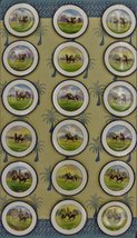 'Set of 18 Minton c.1895 English China Hand-Painted 'Polo Player' Dinner Plates' - $4,500.00