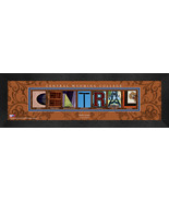 Personalized Central Wyoming College Campus Letter Art Framed Print - $39.95