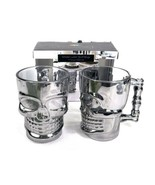 Circleware Smoke Luster Skull Mug Set of 2 NEW In Box. 17.6 Oz. Metallic... - $29.39