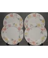Set (4) MIKASA Maxima SILK BLOSSOMS PATTERN Dinner Plates MADE IN JAPAN - $128.69