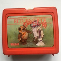 STAR WARS RETURN OF THE JEDI LUNCH BOX 1983 Vintage Red - $28.04