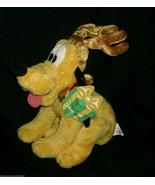 DISNEY STORE REINDEER PLUTO PUPPY DOG CHRISTMAS STUFFED ANIMAL PLUSH TOY... - $23.38