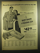 1950 Robert Hall Band-Leader Suit Advertisement - $14.99
