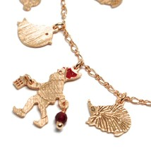 925 Silver Bracelet, Rabbit, Squirrel, Deer, Hedgehog, Owl, le Favole image 2