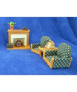 7 Pc Dollhouse Set Epoch Calico Critters Fireplace Working - $19.79
