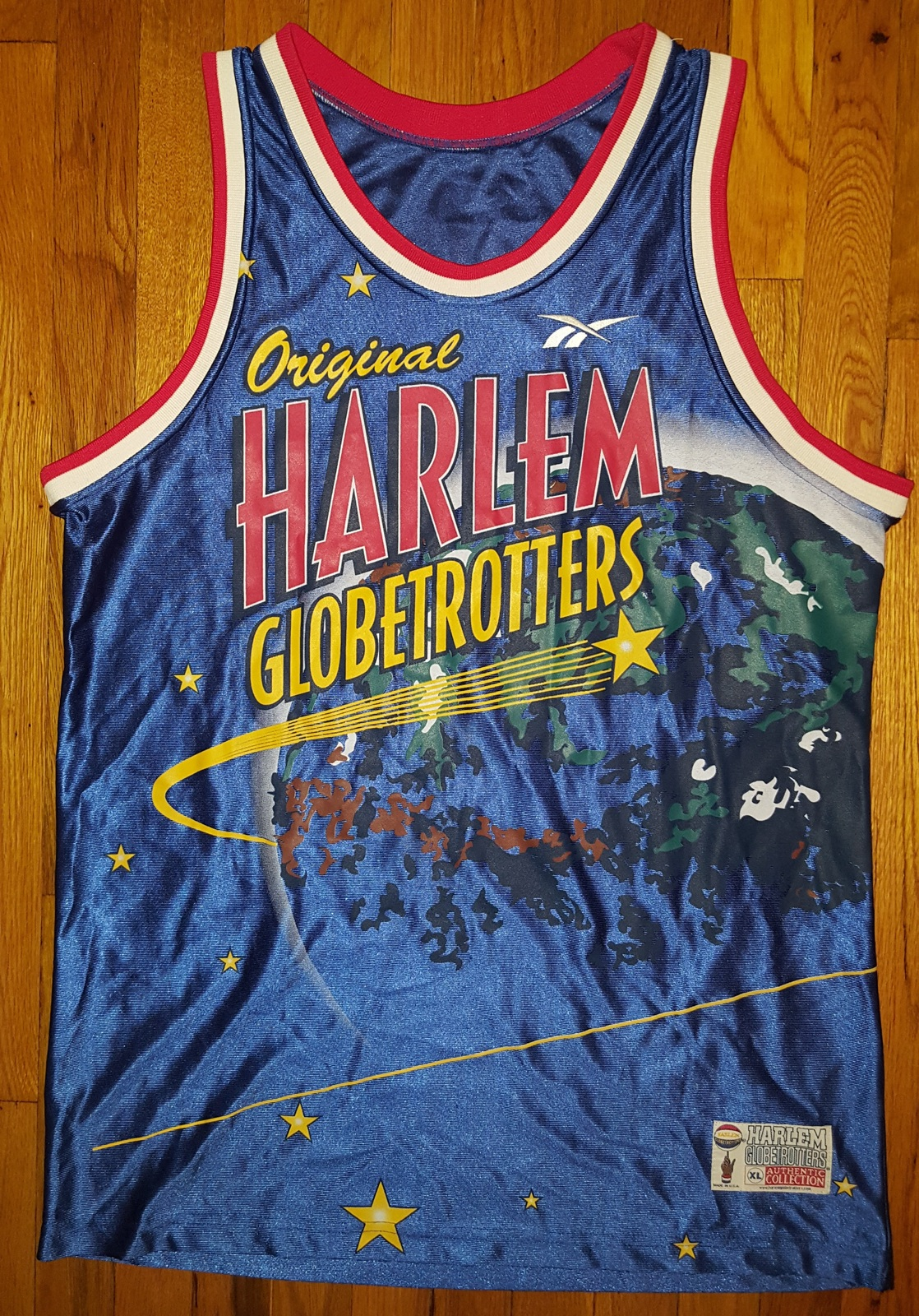 Primary image for Authentic Official Reebok Original Harlem Globetrotters Jersey XL Extra Large