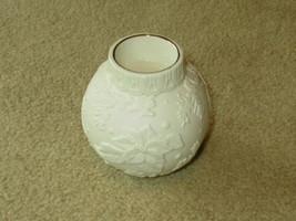"Collectible EUC Lenox Poinsettia Votive Tea Light Candle Holder 4"" match rk - $19.00"
