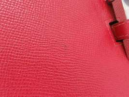HERMES Baton de Craie 24 Veau Epsom Rouge Casaque Shoulder Bag 2017 #A Authentic image 5