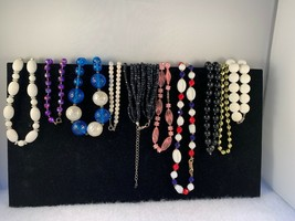 Vintage Lot Of 10 Beaded Necklaces - $12.50